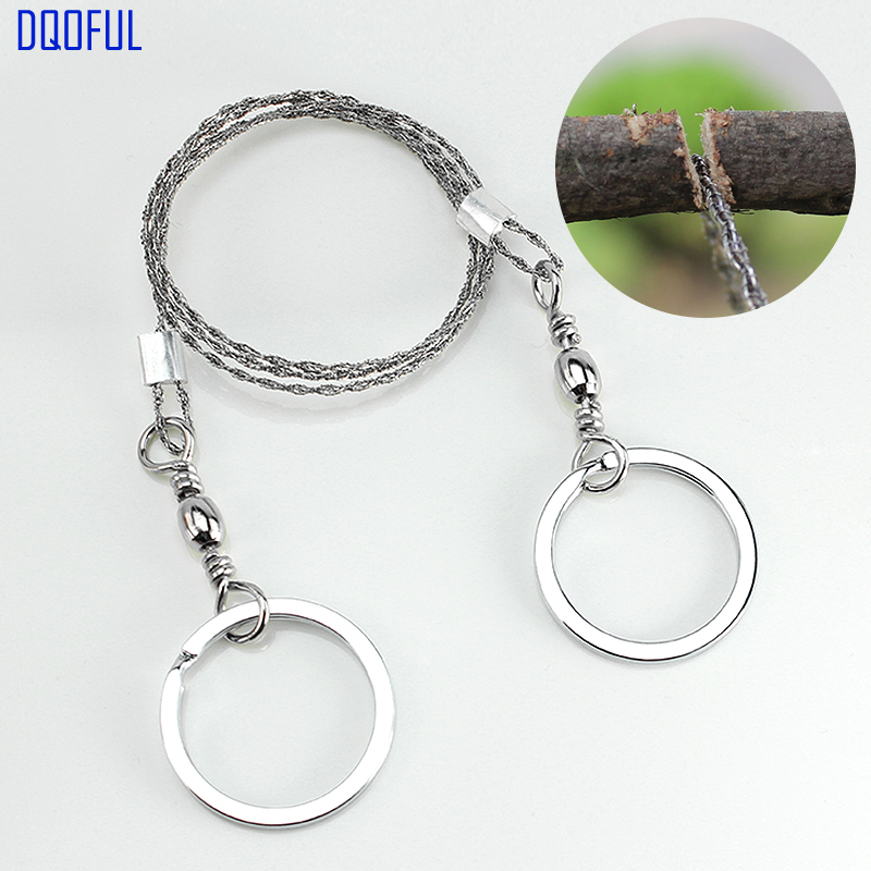 100pcs/lot Outdoor Survival Portable Stainless Steel Wire Sawing Emergency Camping Hiking Manual Hand Gear Steel Rope Chain Saw