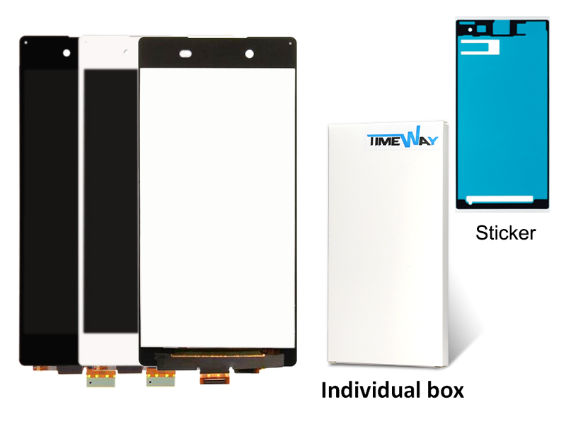 ФОТО DHL 10pcs alibaba china highscreen clone For Sony Xperia Z4 LCD with Touch Screen Digitizer Assembly White or Black Color