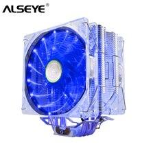 ALSEYE EDDY-120 кулер для процессора 4 Тепловые трубы с термопаста TDP 250W PWM 4pin 120 мм куллер Вентилятор с Алюминиевым Радиатором Радиатор для LGA1155/775//AM2/3/AM4