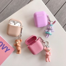 Cute Duffy ShellieMay Stellalou Doll Wireless Bluetooth Earphone Cartoon Case For Apple AirPods 2 1 Silicone Charging