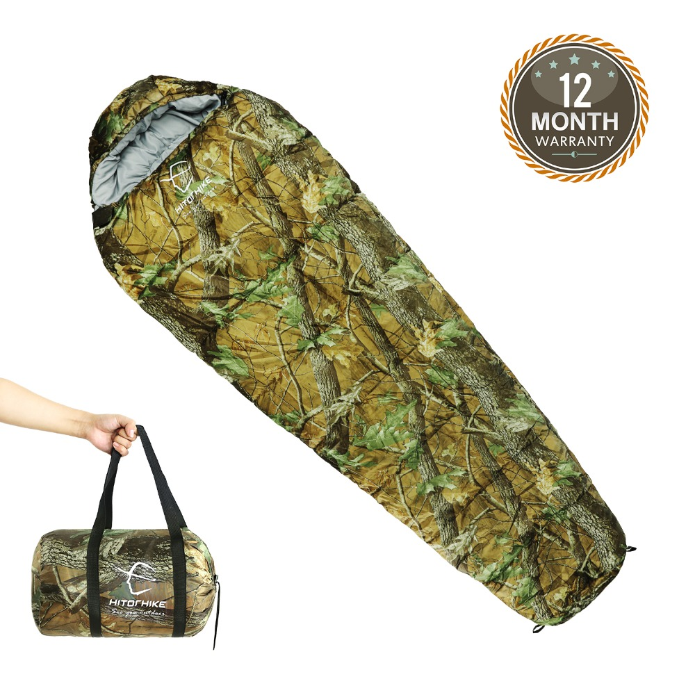 Outdoor Sleeping Bag Mummy Ultra Light Adult Portable Camping Hiking Bags Sleeping Bags 3 seasons 1