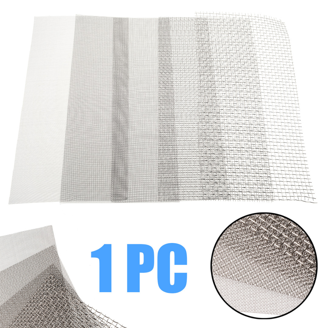 5/8/20/30/40 Mesh Stainless Steel Screen Wire Filter Sheet Woven Cloth 15x30cm with Wear Resistance