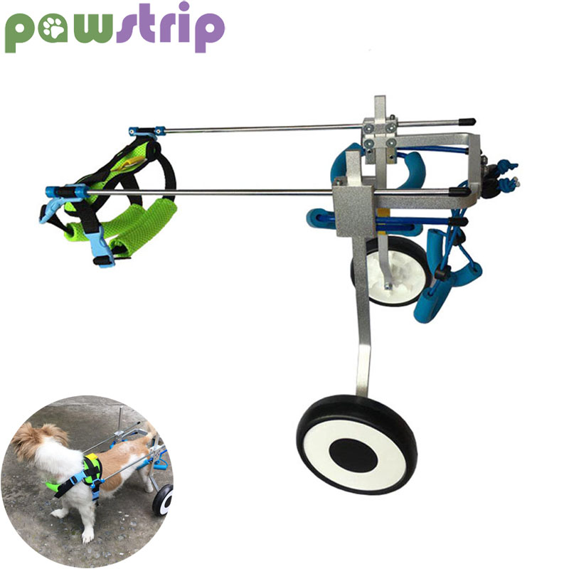 pawstrip Pet Dog Wheelchair For Handicapped Small Dog Hind Legs Pet Walker Assistant Dog Cart Rehabilitation