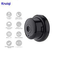 Kruiqi 720P Wireless Mini Camera 2.4G Wifi Support Mobile View Motion Detector And Alarm Up to 64G App YOOSEE