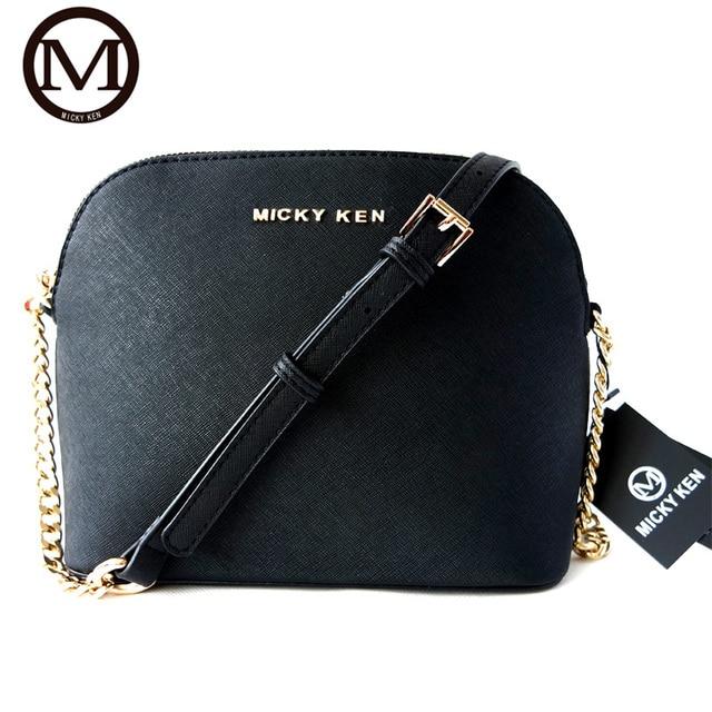 0499eba8bc2b Новая мода МИККИ КЕН марка женщины сумка почтальона сумочки высокое  качество кожа застежка-молния shell