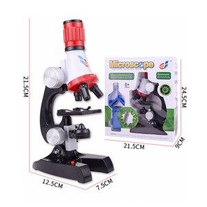 Image 4 - Zestaw mikroskopu Lab z uchwytem na telefon LED School Science zabawka edukacyjna prezent rafinowany mikroskop biologiczny na prezenty dla dzieci