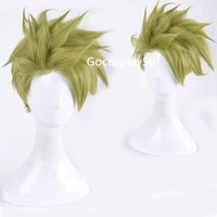 Halloween Fate/Apocrypha Achilles Green Wig Cosplay FGO Role Play