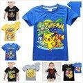 New Summer Kids T-shirt Pokemon Go Pikachu T shirts Cotton Tees Boys Girls Tops Vestidos Kids Costume Baby Boys Clothing 2-10Y