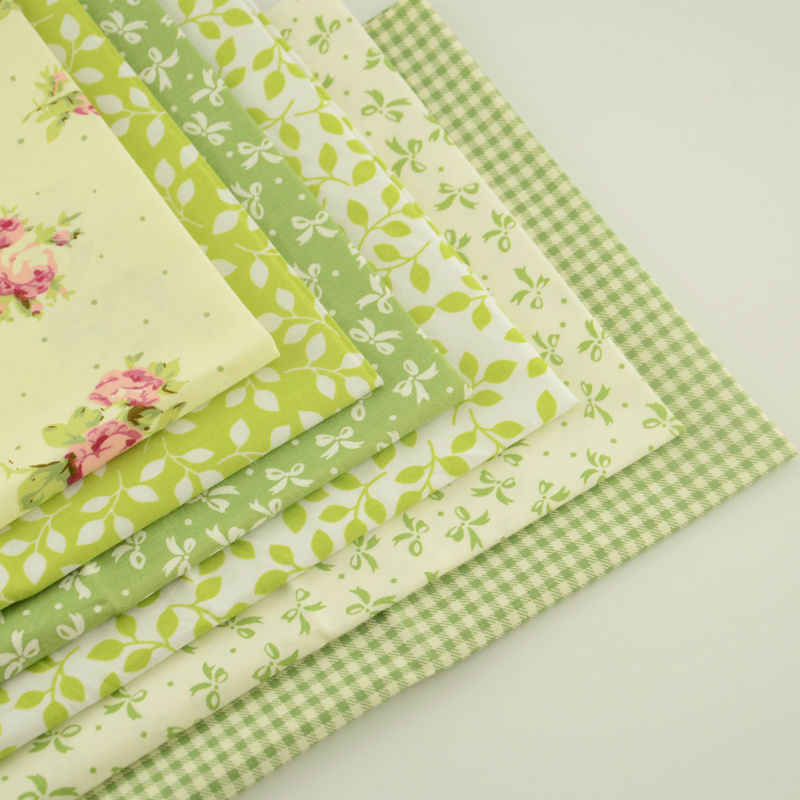 Хлопок Ткань украшение стола простой и довольно узор для Вышивание 6 шт. Комплект тела домашний текстиль для подушек Скрапбукинг 40x50 см