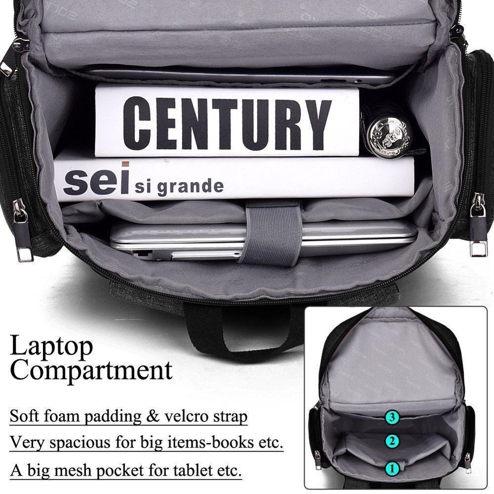 Grand sac à dos pour ordinateur portable 18 18.4 pouces sac d'école pour Macbook Pro homme femmes grande capacité sac de voyage sac d'affaires pour Lenovo sony - 5