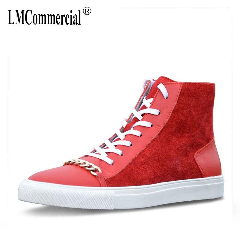 Beige Retro Hombre Hombres negro Transpirable Chelsea Botas Zapatos Zapatillas Cuero Genuino rojo Británicos Invierno High De top Deporte Vaquero Otoño Para zZtUwqx4U7