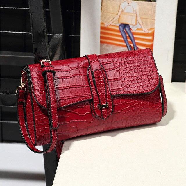 Crocodile women messenger bags small crossbody bag PU leather Women's shoulder bag Fashion Bolsas little bag ladies