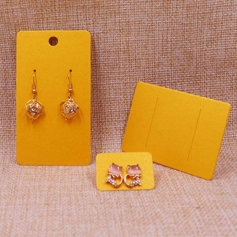 2018New  DIY  200pcs Shinning  Yellow Earring  Card  For 1  Pair Earring  5X9cm Or 2.5x3.5cm Earring Or 5X7CM Hair Clip Card