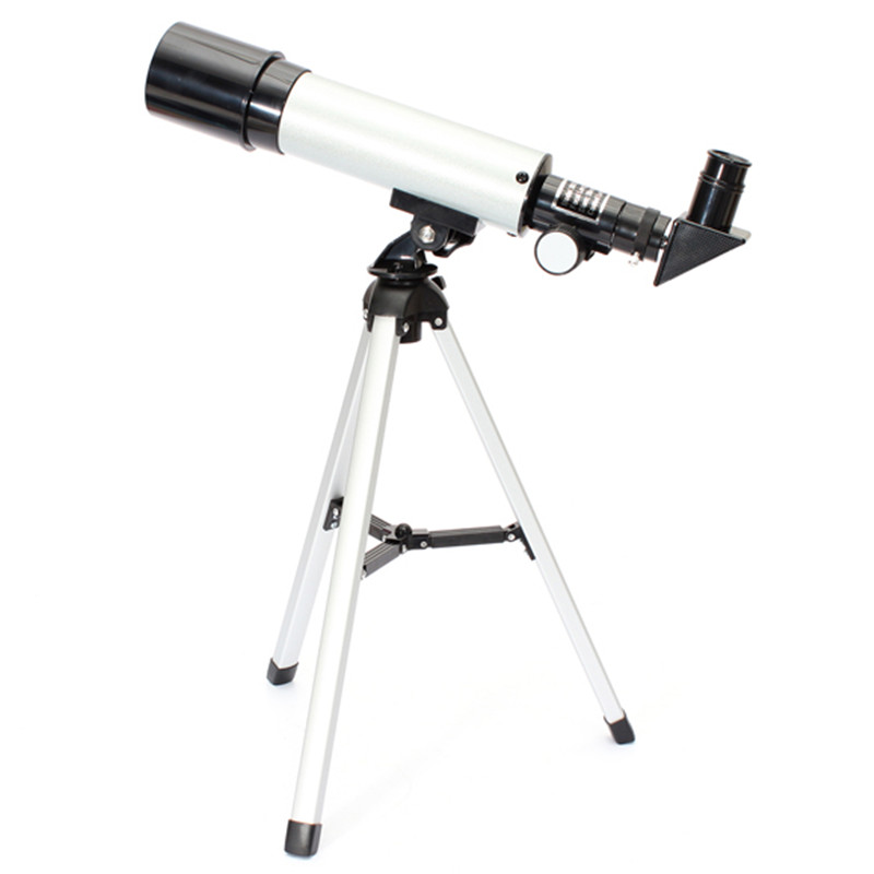 Outdoor Refractive Astronomical font b Telescope b font with Portable Tripod HD Monocular Spotting Scope 360