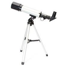 Refractiva Telescopio Astronómico con Trípode Portátil al aire libre Monocular HD Telescopio 360/50mm Telescopio Regalo de Año Nuevo