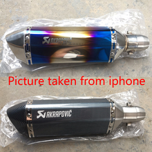 For Akrapovic exhaust motorcycle muffler escape moto with db killer Exhaust Systems for honda benelli msx125 nmax155
