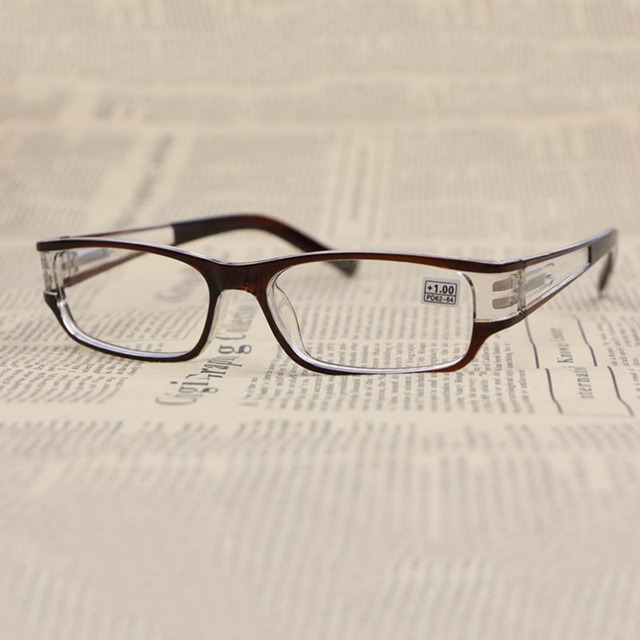 Woman Presbyopic Reading Glasses Simple Eyewear Square Frame Clear Lens Men 1.0 1.5 2.0 2.5 3.0 3.5 4.0 R154
