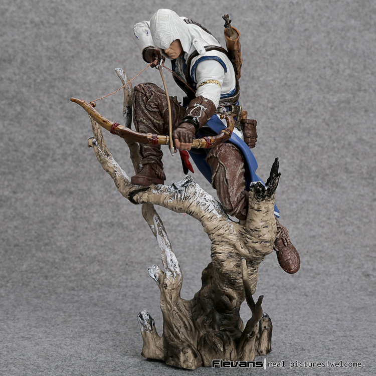 Assassin's Creed 3 Connor PVC Action Figure Collectible Model Toy 26cm shfiguarts batman injustice ver pvc action figure collectible model toy 16cm kt1840