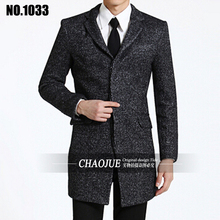 2017 New Winter Men Wool jacket Men Long Trench Coat Slim Fit Overcoat High Quality Men Outerwear Fashion stand collar clothes