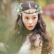 Children Headbands Hair Accessories Bride Wreath Beach Garland Girl Wedding Flower Headband Girls Boho Flowers Headwear 2017 new 10pcs lot beach hair accessories kids flower headband bohemian style wreath garland girls birthday party hairband