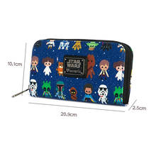 2020 Star Wars Baby All Over Print Zip Around Wallet Cartoon Purse Mandalorian Green Bi-Fold Wallet Star Wars Bag cheap MULTIWIN Short 0 15 Polyester 2 5cm Patchwork Fashion 778795 Photo Holder Zipper Poucht Coin Pocket Interior Compartment