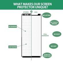 3D полный клей S8 S9 plus Note 9 8 закаленное стекло для SAMSUNG galaxy S9 S8 plus Дружественный полный клей защитная пленка для экрана