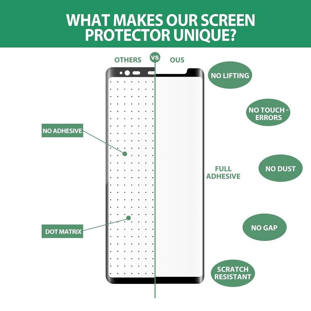 3D plein adhésif S8 S9 plus Note 9 8 verre trempé pour SAMSUNG galaxy S9 S8 plus Film protecteur décran pleine colle amical