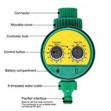 Nfivt Program czasowy wyłącznik przepływu wody ogrodowy sterownik nawadniania domu urządzenie do automatycznego nawadniania angielska wersja zegar