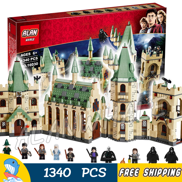 1340pcs Magic Hogwarts Castles Gryffindor School 16030 Model Building Blocks Assemble Bricks Toys Movie Compatible With Lego lepin 16030 1340pcs movie series hogwarts city model building blocks bricks toys for children pirate caribbean gift