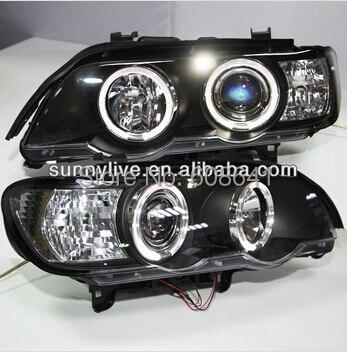 Pour BMW X5 E53 Tête Lampe Ange Eyes1998 à 2004 année SN