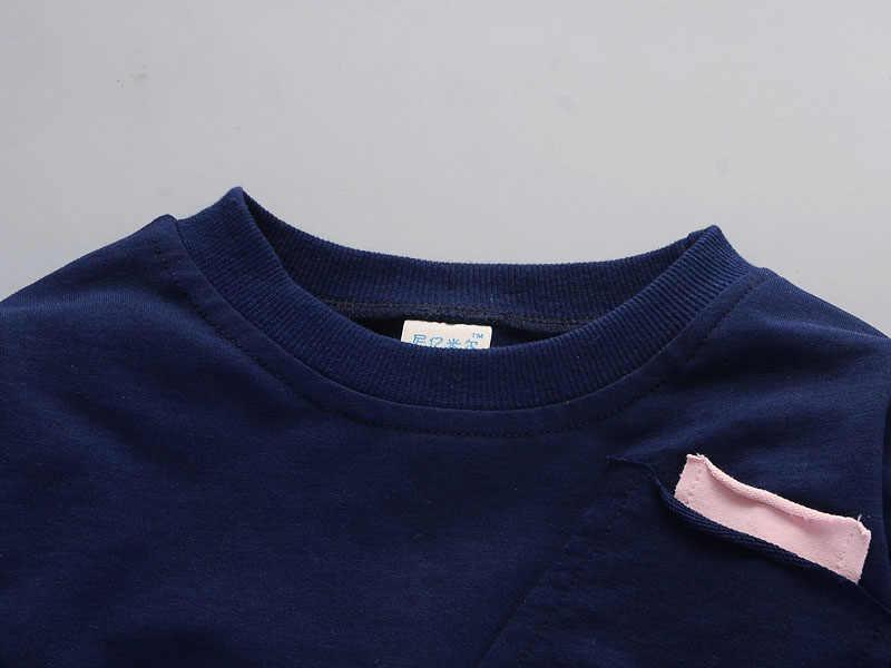 eb9de20c3f21 ... Осенняя детская модная одежда для мальчиков и девочек, футболка с длинными  рукавами и штаны, ...
