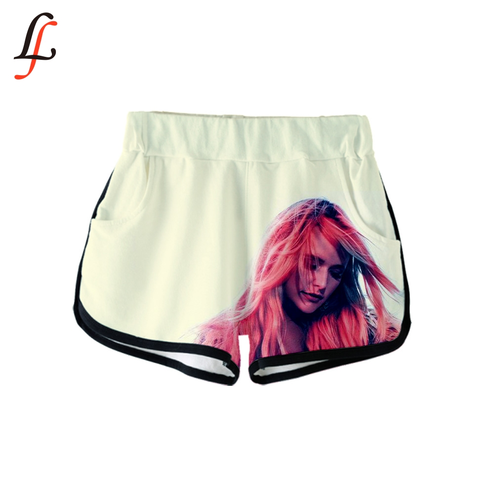 Miranda Lambert 3D Summer Women Clothes Casual Harajuku Cute Girl Hot Sale Sexy Shorts K Pop Casual Elastic Waist Fitness Shorts