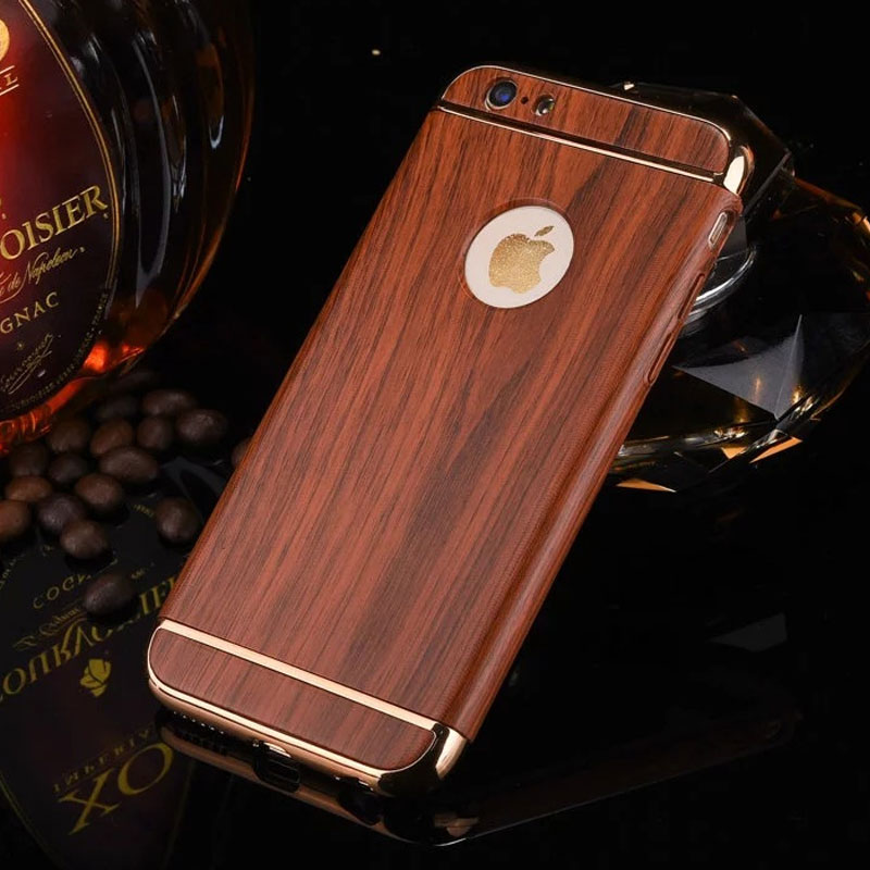 2017 Luxury Wood grain phone cases For iPhone 6s Case ...