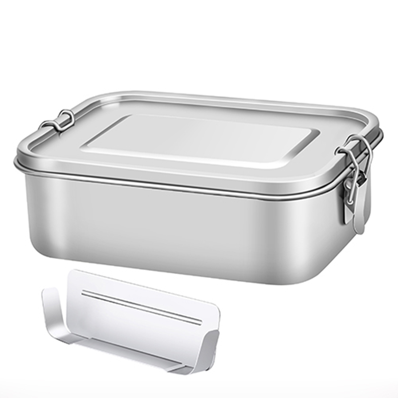 Lunch Box Food Container Kitchen Bento Box 304 Stainless Steel Adjustable Storage Box Leakproof Silicone Seal Ring Preservation in Lunch Boxes from Home Garden