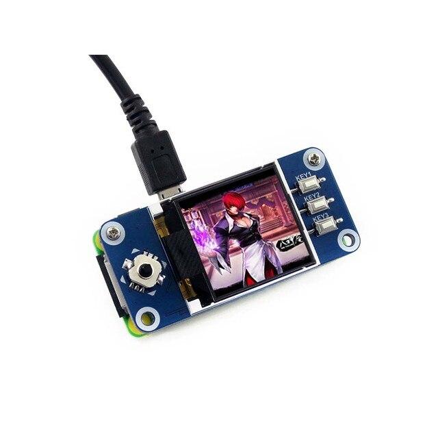Waveshare 1.44 אינץ LCD תצוגת כובע עבור פטל Pi 2B/3B/3B +/אפס/אפס W,128x128 פיקסלים, SPI ממשק, ST7735S נהג