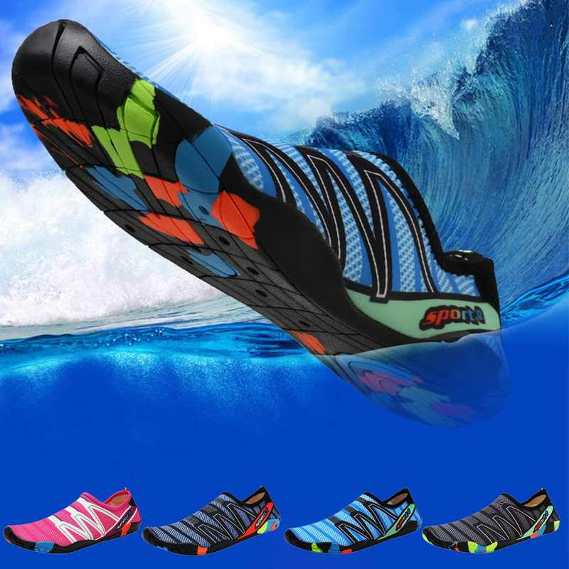 Sfit Unisex ayakkabı yüzme ayakkabı su sporları plaj sörf terlik ayakkabı erkekler kadınlar plaj ayakkabısı hızlı kuruyan moda 2019