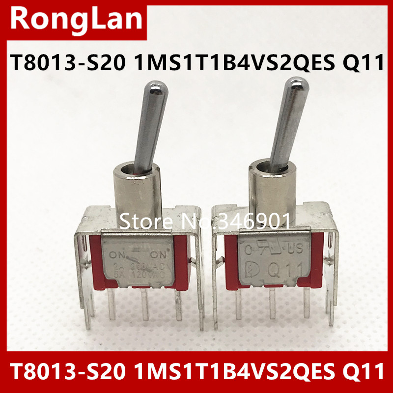 [SA]<font><b>T8013</b></font>-S20 -pin single tripod two tranches M6.35 small toggle switch Q11 Deli Wei 1MS1 shook his head open--50pcs/lot image