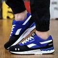 Nueva Llegada de Los Hombres Zapatos Casuales de Malla Transpirable Aumento de la Altura de Color Mezclado Zapatos Hombre Pisos Lace Up Entrenadores Deportivos Cesta