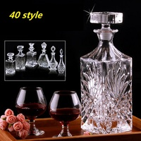 Lead free crystal glass red wine bottle A bottle of wine sealed wine bottles Artificial crystal materials