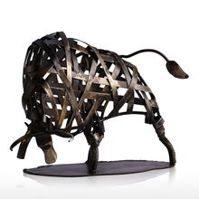Handmade Metal Taurus Sculpture
