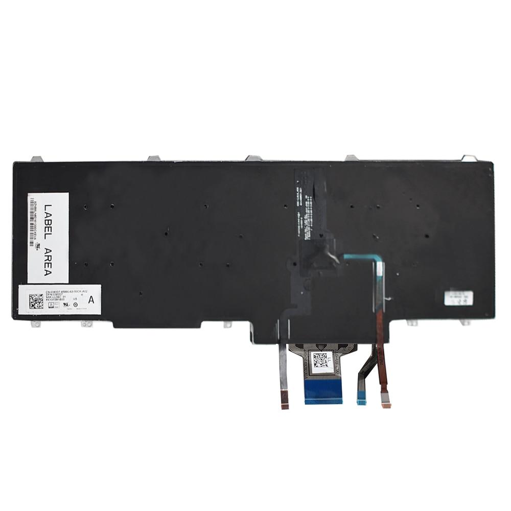 New Genuine 383D7 Backlit Keyboard Pointer Buttons Dell Latitude E5550 E5570