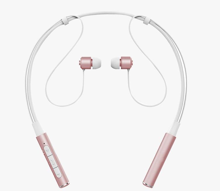 Roman Z6000 Neckband Bluetooth Headset Sport Earphone HIFI Stereo Calls Remind Vibration Headphone For Outdoor Running Gym Fone wireless bluetooth headset hbs500 sport portable 3d stereo headphone v4 1 bluetooth headphone neckband style for all phones