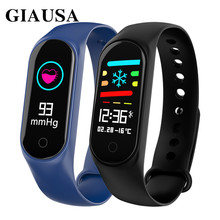GIAUSA M3S Smart Bracelet Color-screen IP67 Fitness Tracker blood pressure Heart Rate Monitor Smart band For Android IOS phone m3s color screen ip67 smart bracelet blood pressure heart rate monitor fitness tracker smart wrist band for android ios phone