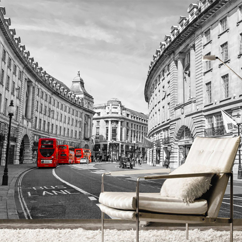 Custom photo wallpaper Retro London building red bus British Cafe 3D stereo mural wallpaper