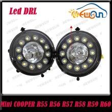 2pcs/lot 10w LED drl light For Mini Cooper LED DRL waterproof 12V R55 R56 R57 R58 R60 R61 LED Daytime Running Light