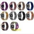 Novo 11 cor milanese laço pulseira de aço inoxidável strap pulseira substituição para apple watch 38mm/42mm com ímã bloqueio