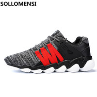 Hot 2017 Trend Running Shoes For Men Sneakers Breathable Mesh Shoes Laces Sport Shoes Running Shoes