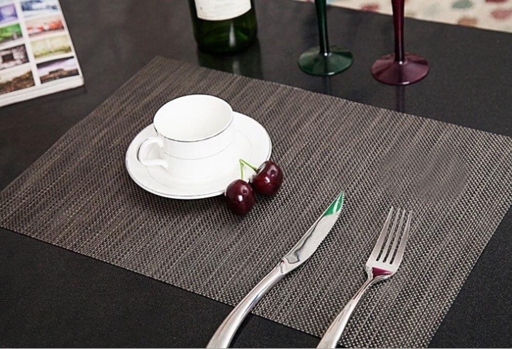 6pcs PVC Quick drying Placemats Insulation Mats Coasters Kitchen ...