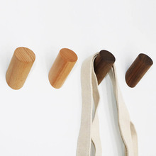Clothes Hanger Coat Hook Decorative Multifunction Wall Mounted Bathroom Accessories Portable Key Holder Solid Wood