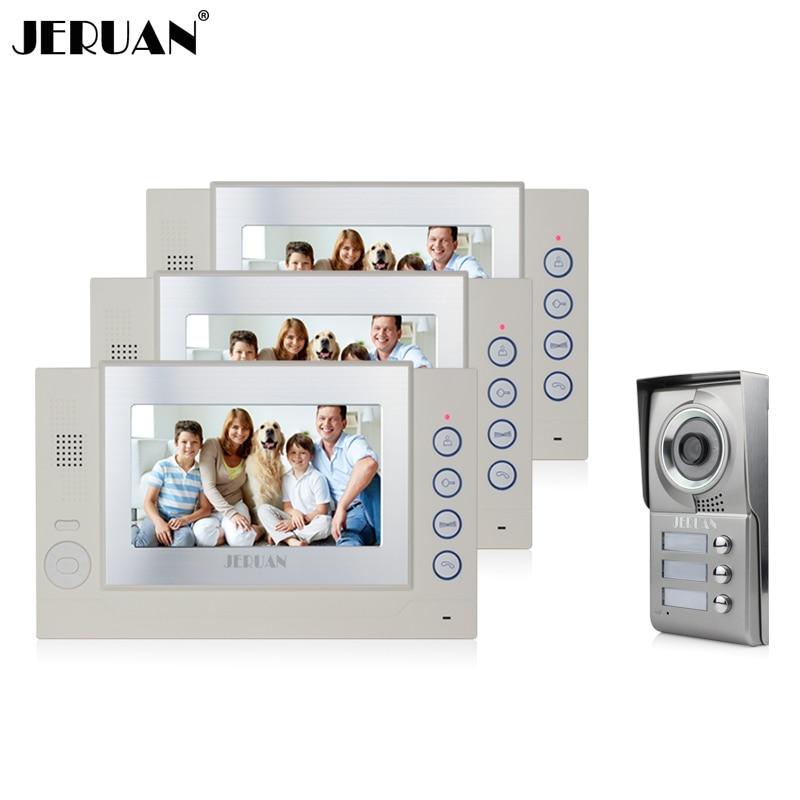 JERUAN 7 video doorphone intercom system doorbell video recording photo taking video door phone hands free